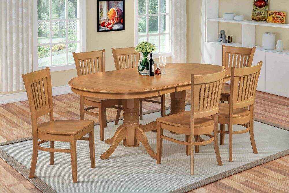 7 Pc Oval Dinette Kitchen Dining Room Set 42quotx78quot Table