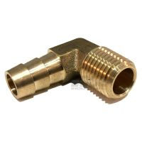 3/8 HOSE BARB ELBOW X 1/4 MALE NPT Brass Pipe Fitting ...