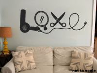 Love Cosmetology Interior Wall Sticker Decal vinyl decor ...