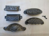 Cast Iron Shell Cup Pull Kitchen Cabinet Cupboard Drawer ...