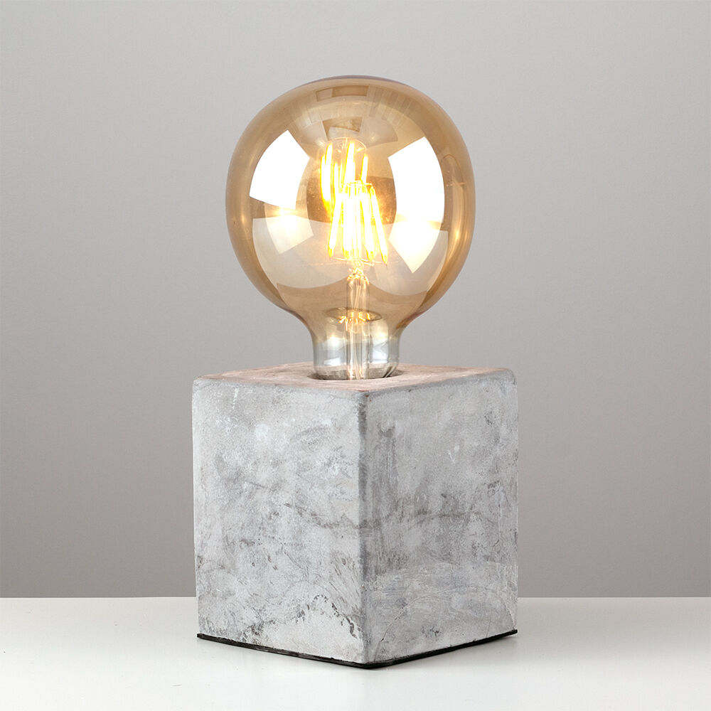 Tischlampe Beton Industrial Style Concrete / Cement Cube Edison Table Lamp