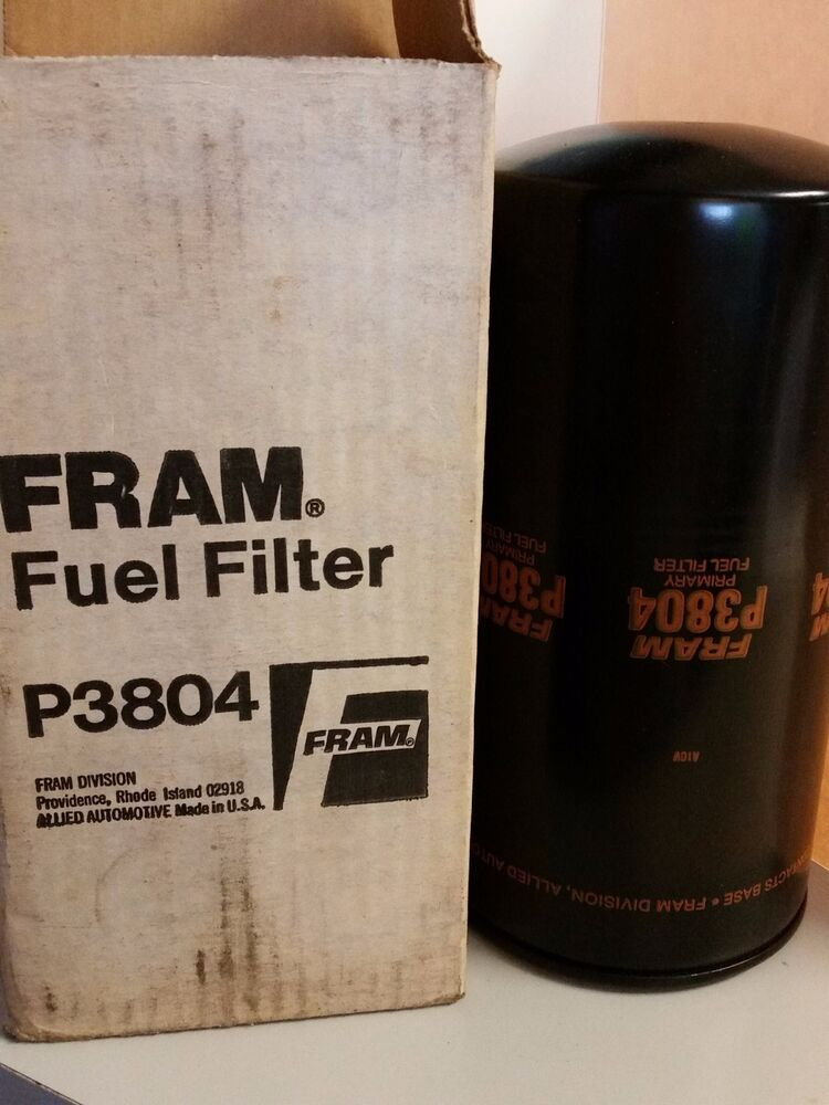 FRAM P3504 ENGINE FUEL FILTER NEW DETROIT DIESEL 23518528 BF784
