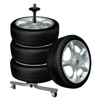Tire Wheel Rack Storage Holder Heavy Duty Garage Trolley ...