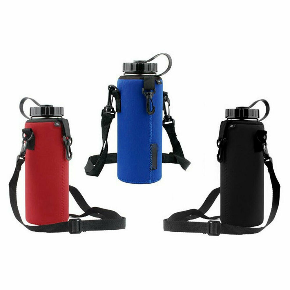 1l Neoprene Water Bottle Carrier Insulated Cover Bag
