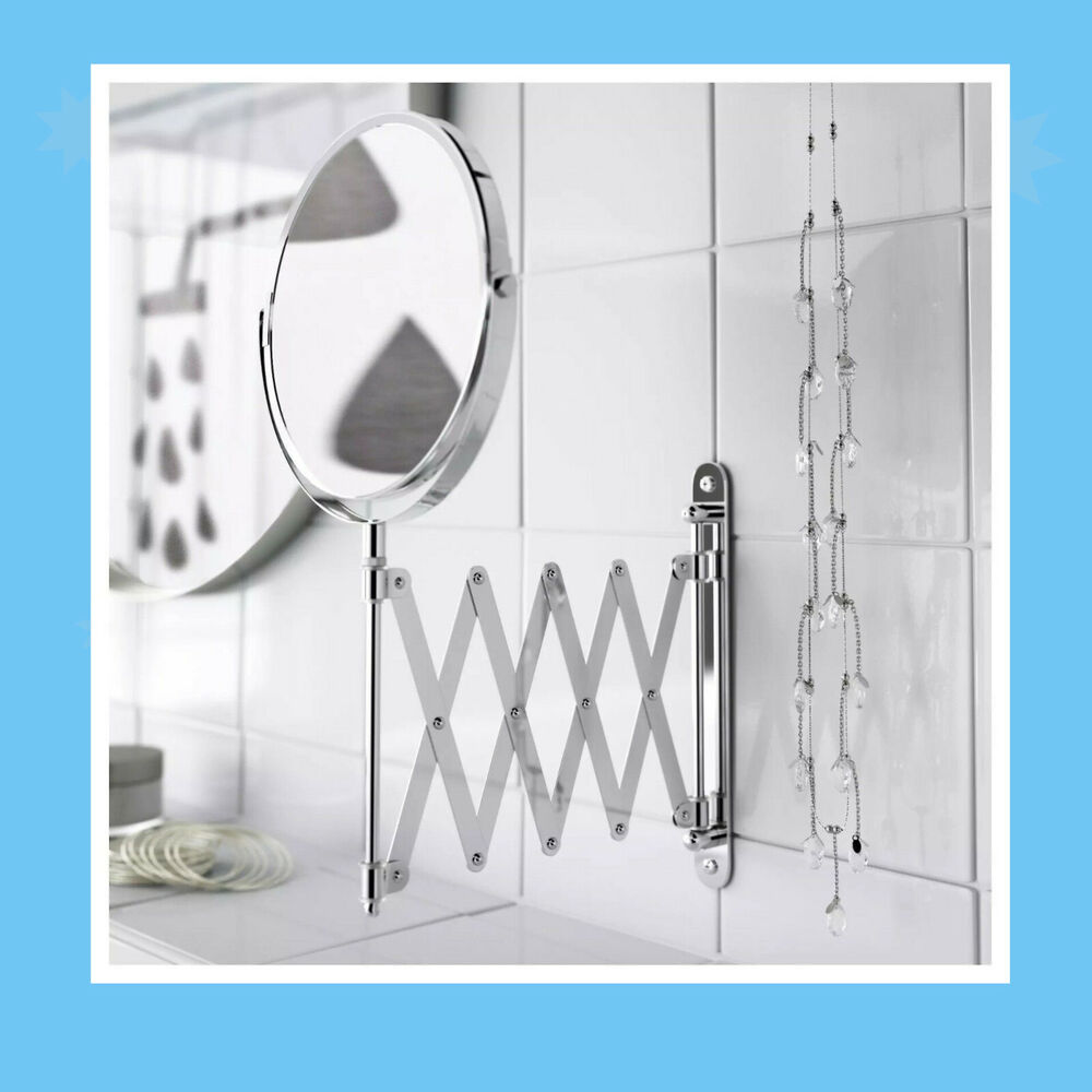 Tapis Wc Ikea Ikea Frack Wall Extendable Stainless Steel Round Shave Mirror Magnifying Glass Ebay