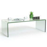 Tempered Glass Coffee Table Accent Cocktail Side Table ...