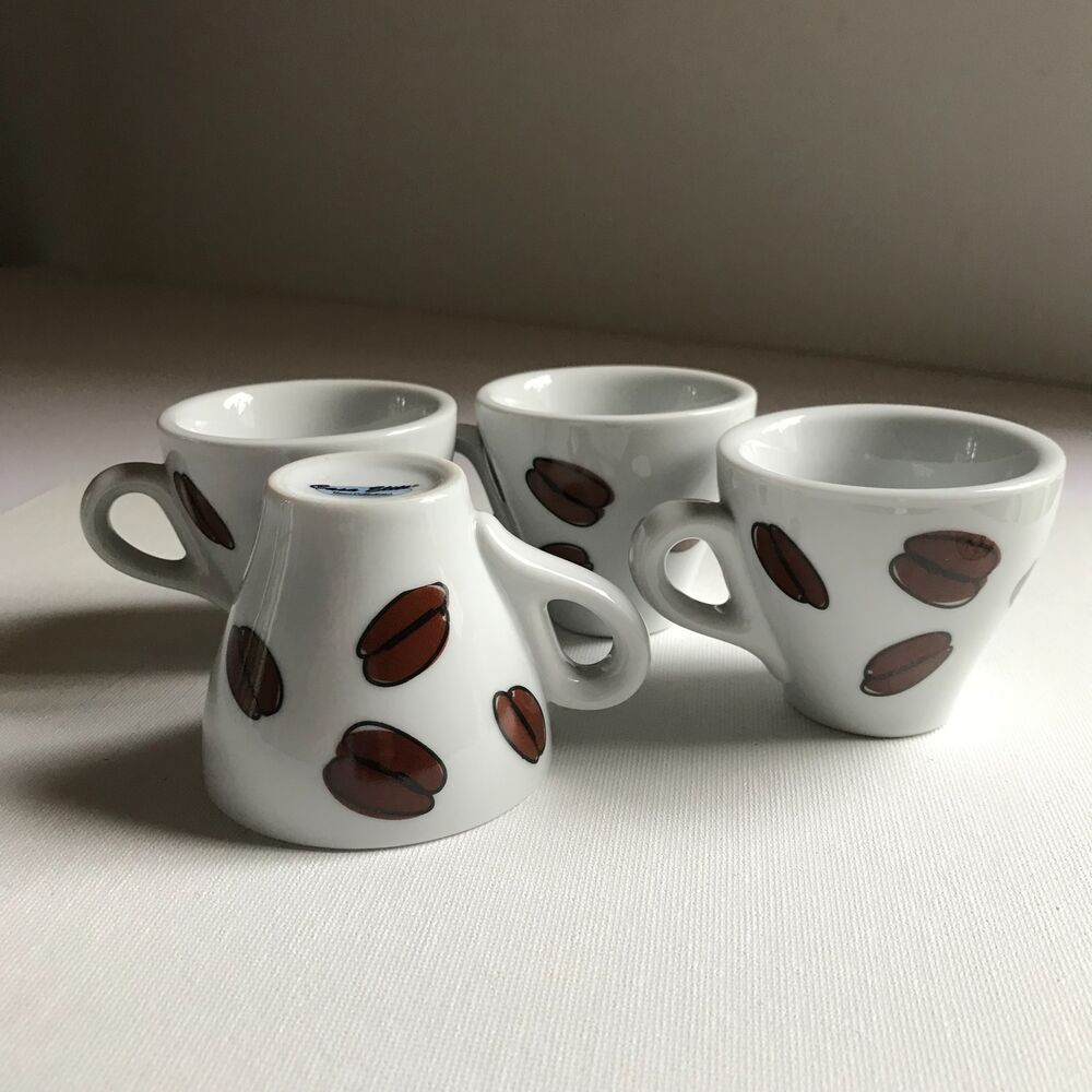 Cappuccino Cups Australia 4 Vintage Casa Elite Cappuccino Cups With Coffee Bean Decorations 2 5