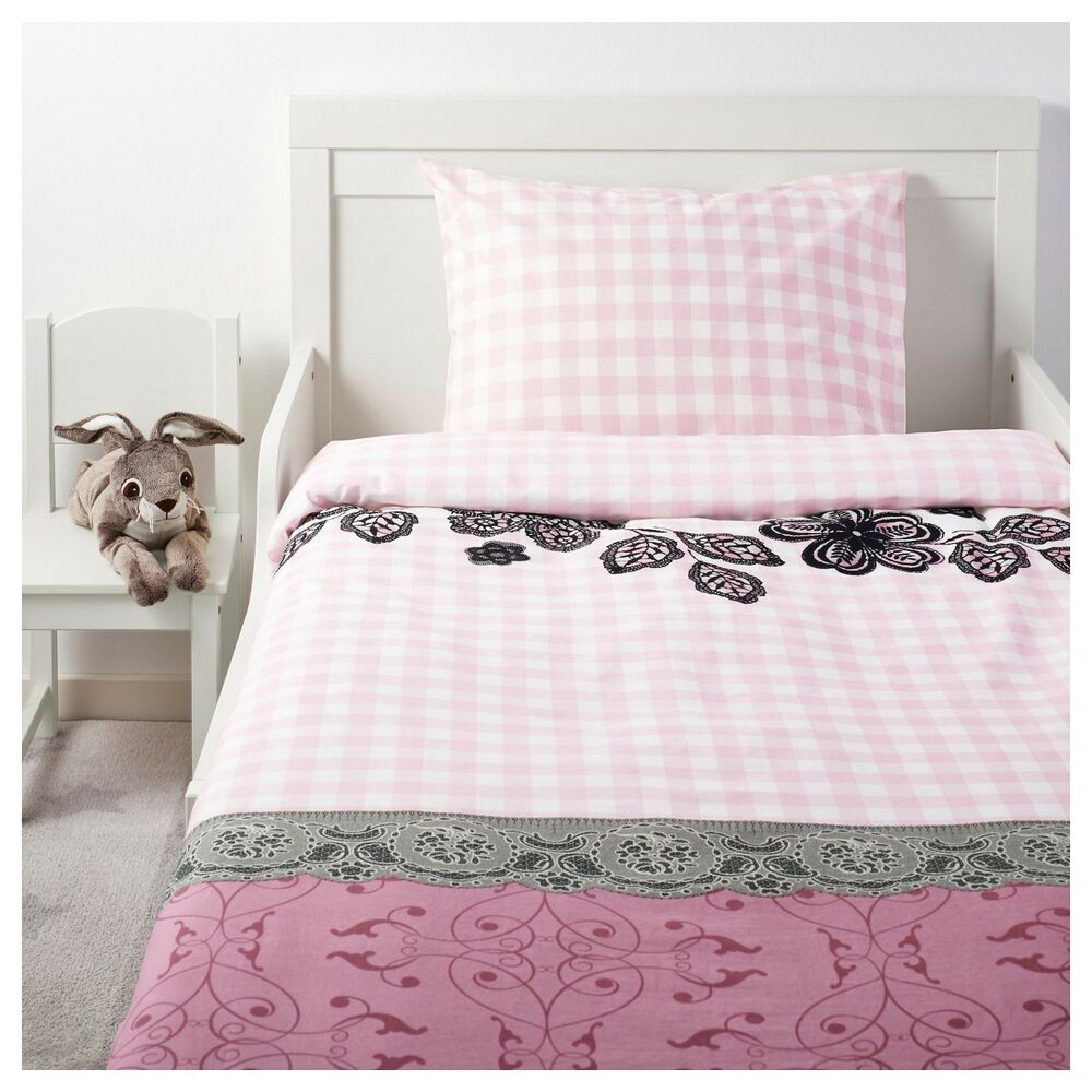 Ikea Duvet Covers Ikea Twin Duvet Quilt Cover 2 Pc Set Ikea Mystisk Pink White For Single Bed New Ebay