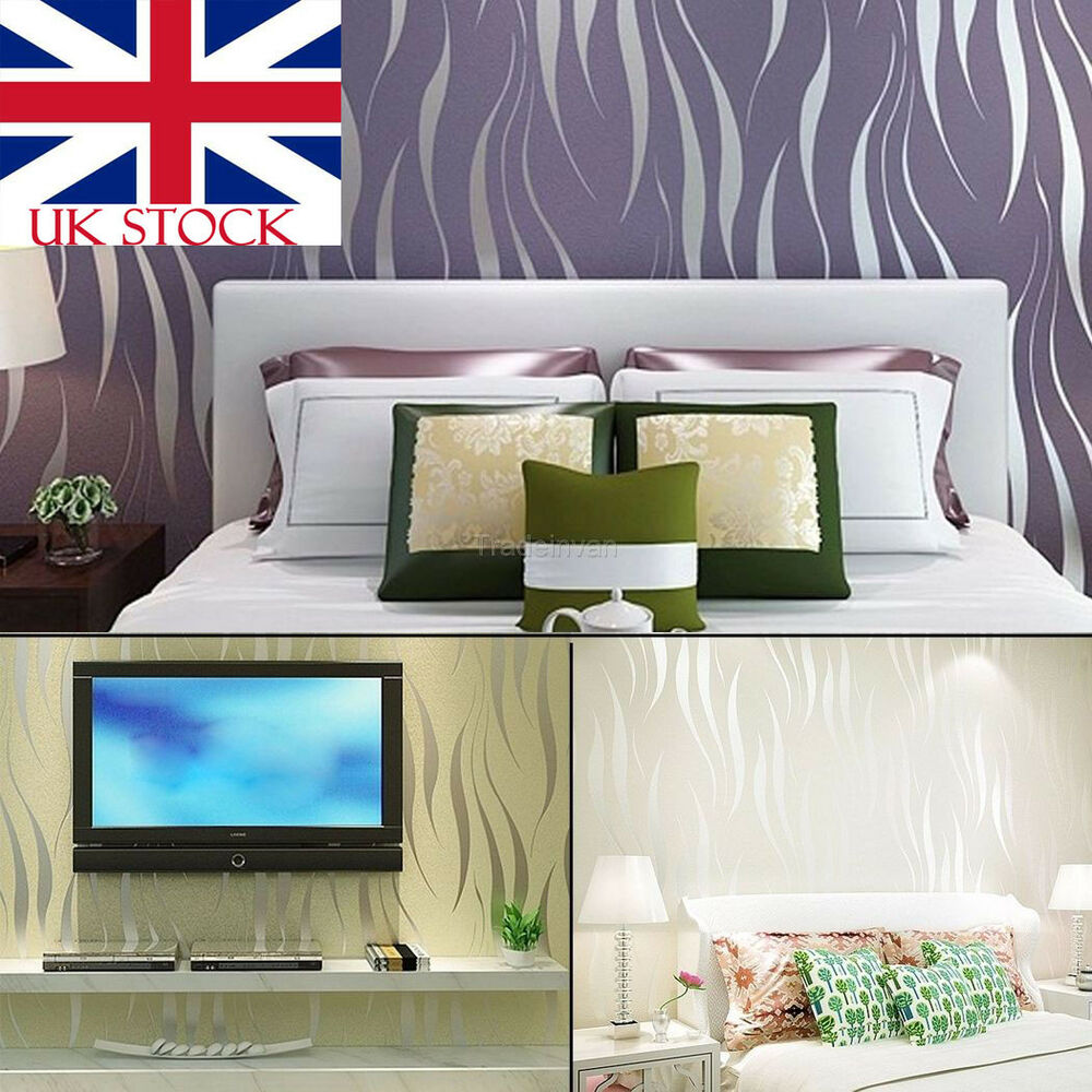 Tv Panel Kaufen 3d Striped Wallpaper Wave Flocking Roll Home Room Tv Background