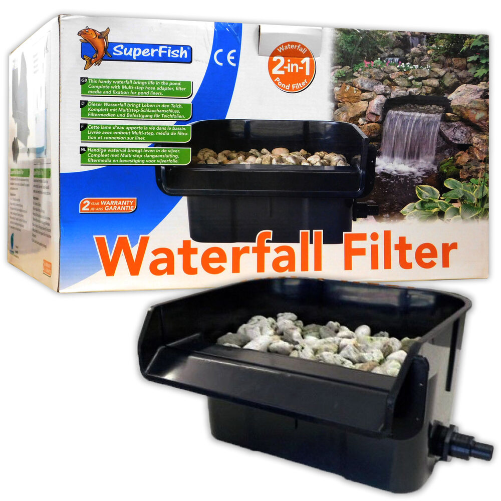 Garten Teich Und Koi Superfish Waterfall Filter 44cm Pond Feature Cascade Ledge Garden Koi Fish 8715897246562 Ebay