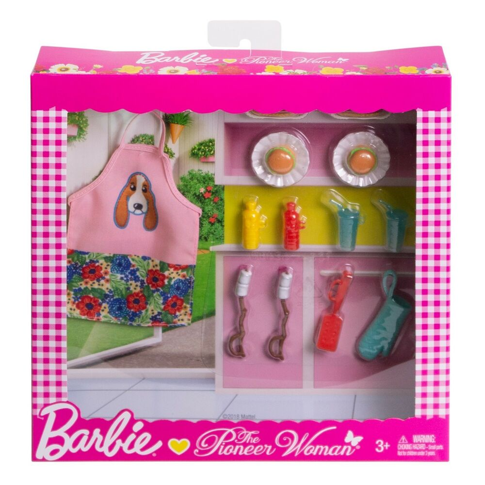 Barbacoas Pio Barbie Pioneer Woman Ree Drummond Bbq Cooking Accessory Set 10 Pieces New 887961714715 Ebay