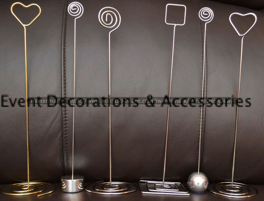 WEDDING TABLE NUMBER HOLDERS, MANY TYPES & QUANTITIES