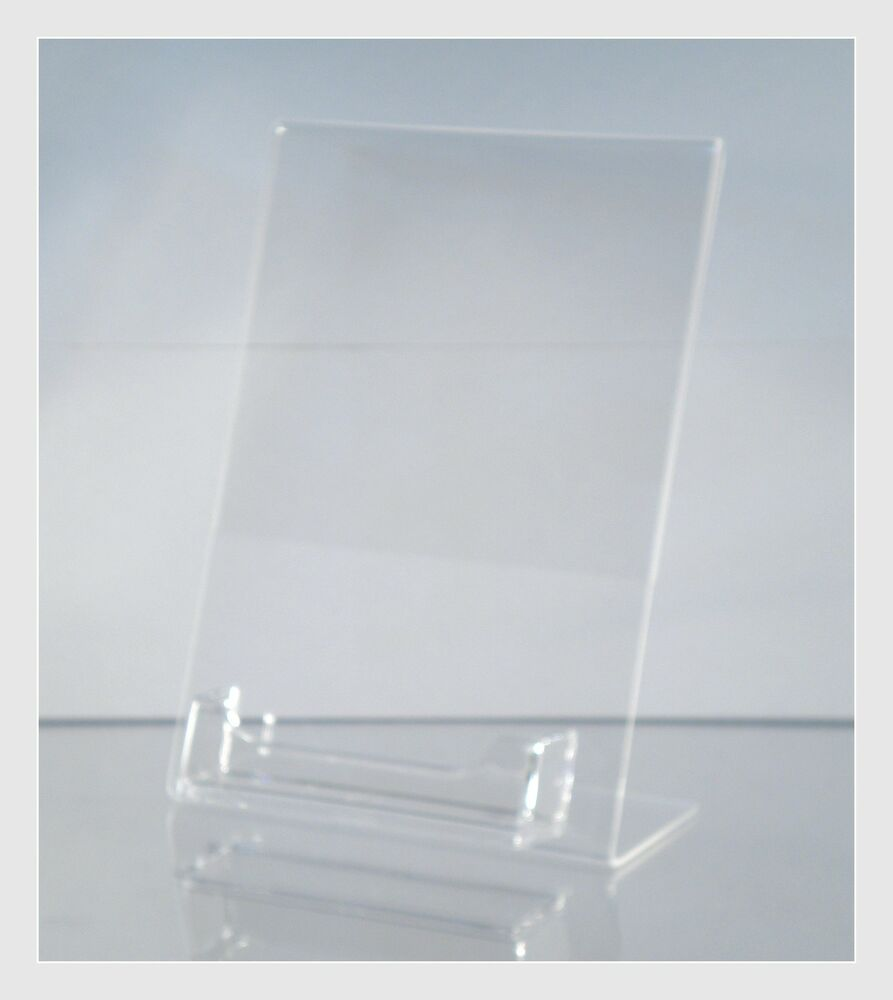 10 Acrylic 5quot X 7quot Slanted Picture Frame Holders With