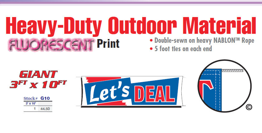 LETS DEAL Banner Sign used car sale vehicle we finance buy here pay