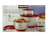 Kirkland Signature Stainless Steel Mixing Bowl Set 5 ...