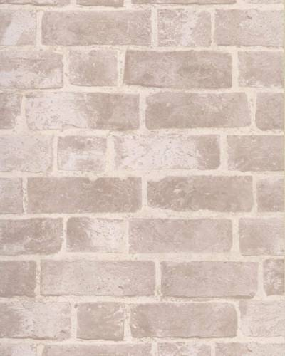 BRICK WALLPAPER Aged Off White Brick with Texture HE1045 | eBay