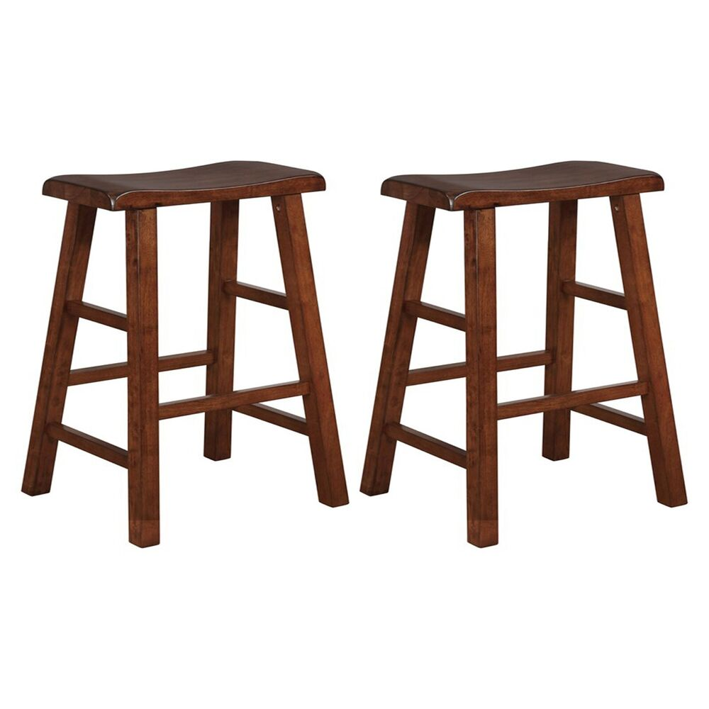 "Saddle Bar Stools 24"" Heavy Duty Saddle Seat Barstool , Set Of 2 