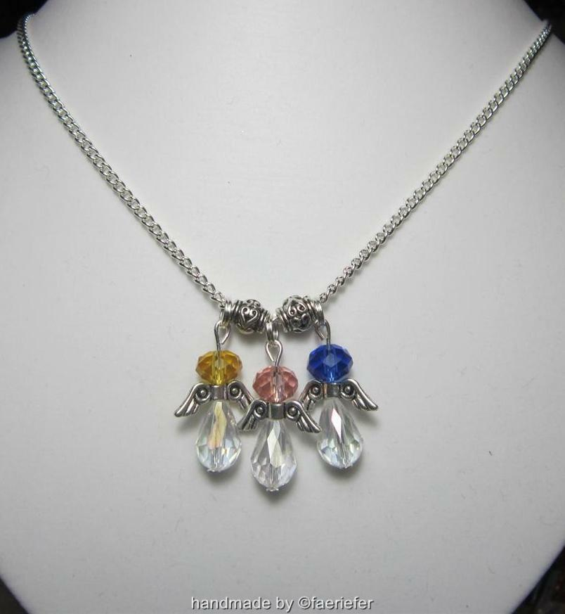 Birthstone Crystal Angel S Necklace Baby Child