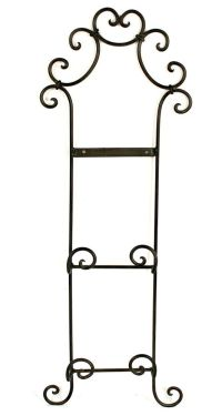 Wrought Iron Wall Decor Double Plate Holder