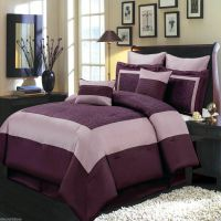 8pc Luxury Comforter Set Wendy Purple Bedding Set with ...