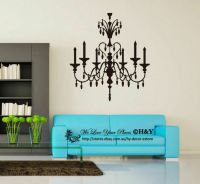 Chandelier Removable Wall Stickers Vinyl Wall Decals Art ...