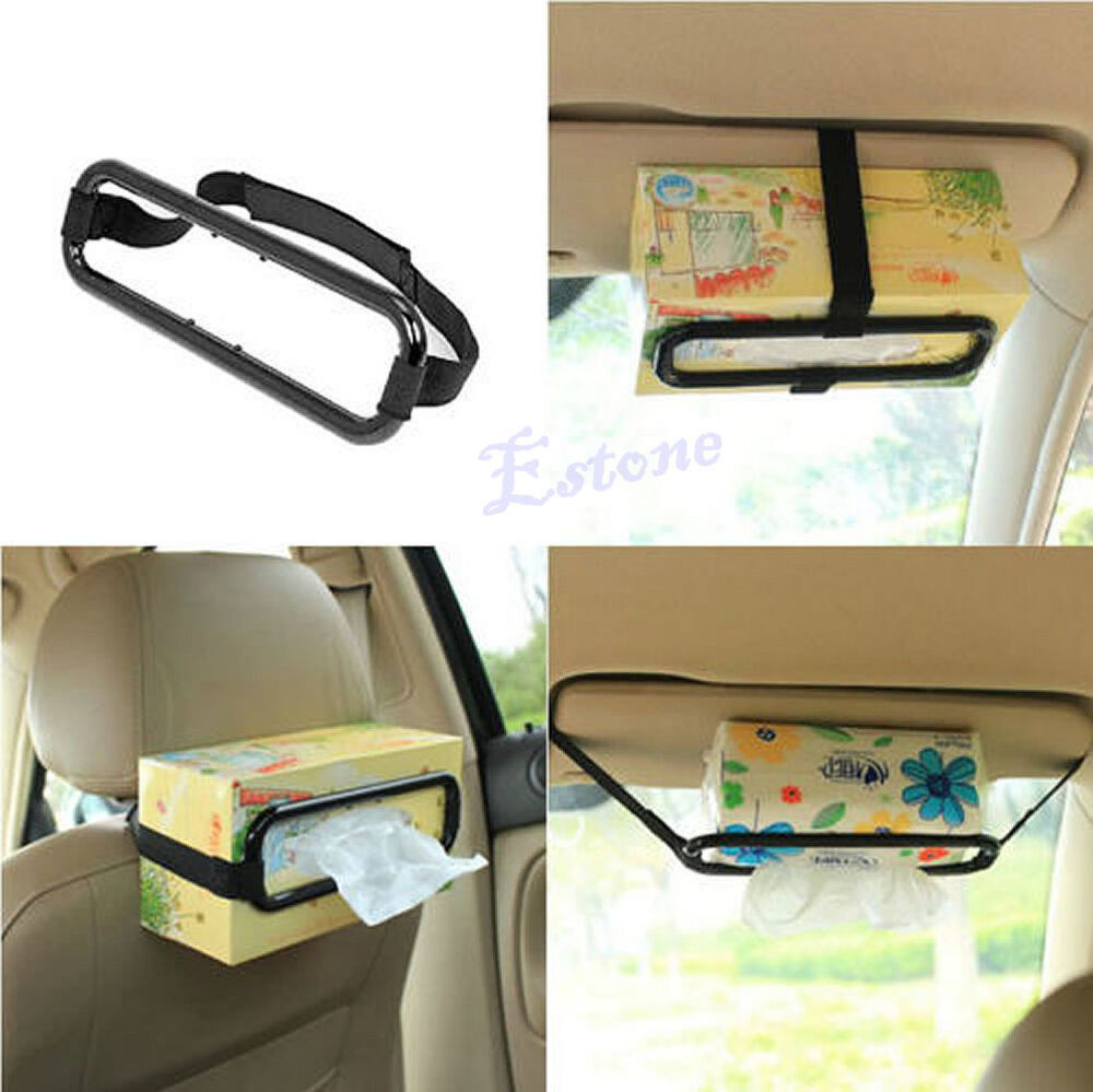 Car Sun Visor Tissue Paper Box Holder Auto Seat Back