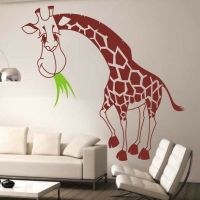 130x120cm Large Giraffe Removable Wall Stickers Kids Baby