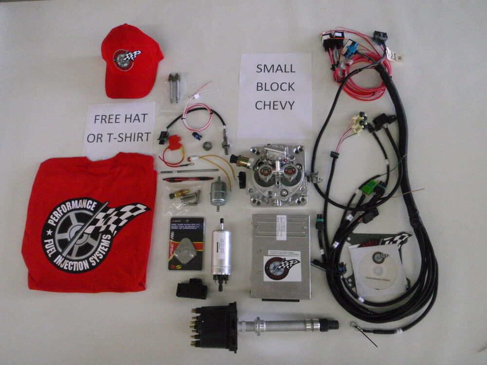 EFI Complete TBI Fuel Injection Kit -For Stock Small Block Chevy 350