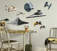 Star Wars Aircraft Destoryer Death Stars Wall Sticker Kids ...