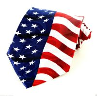 American Flag Mens Necktie United States July 4th Holiday