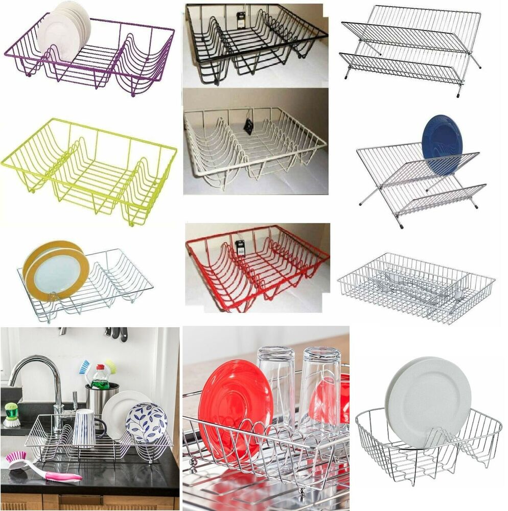 Large Dish Drainer Metal Wire Cutlery Draining Holder