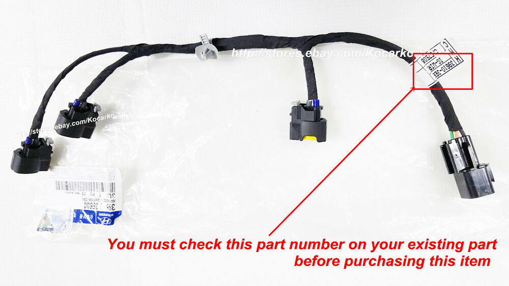 OEM Ignition Coil Wire Harness Fits Hyundai Santa FE 27L 2007-2009