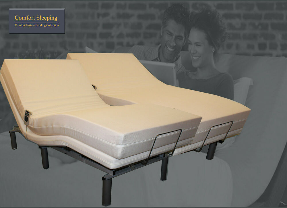 Elektrische Betten Deluxe Electric Adjustable Bed And Gel Memory Foam