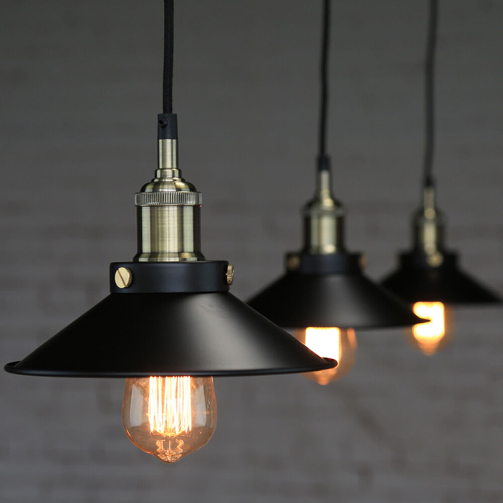 Industrial Hanging Lights Industrial Vintage Pendant Loft Lampshade Ceiling Light