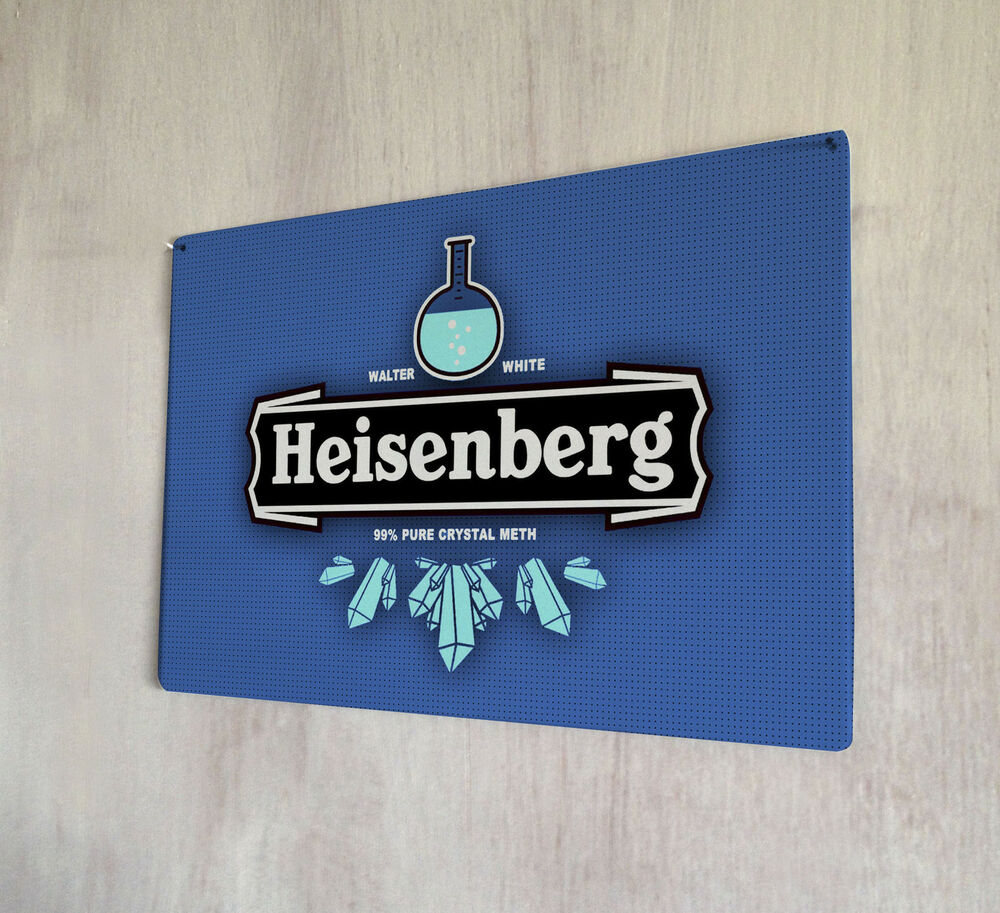 Bad Shabby Chic Heisenberg Breaking Bad Walter White Sign A4 Metal Plaque Shabby Chic Sign Ebay