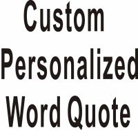 Custom Personalized Own Word Quote Wall Stickers Wall ...