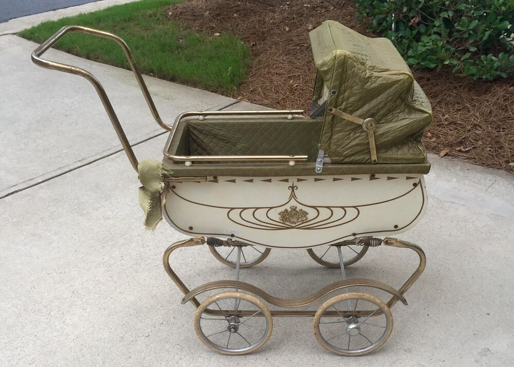 Doll Stroller Vintage Vintage 1950s Coronet Baby Doll Buggy Carriage Pram Ebay