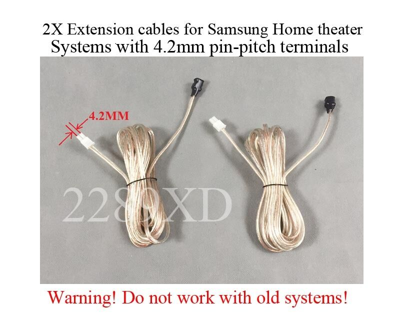 2 12ft speaker extension cables/wires made for Samsung Home Theater