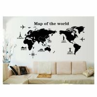 Mural Art Home Decor Large World Map Removable Wall ...