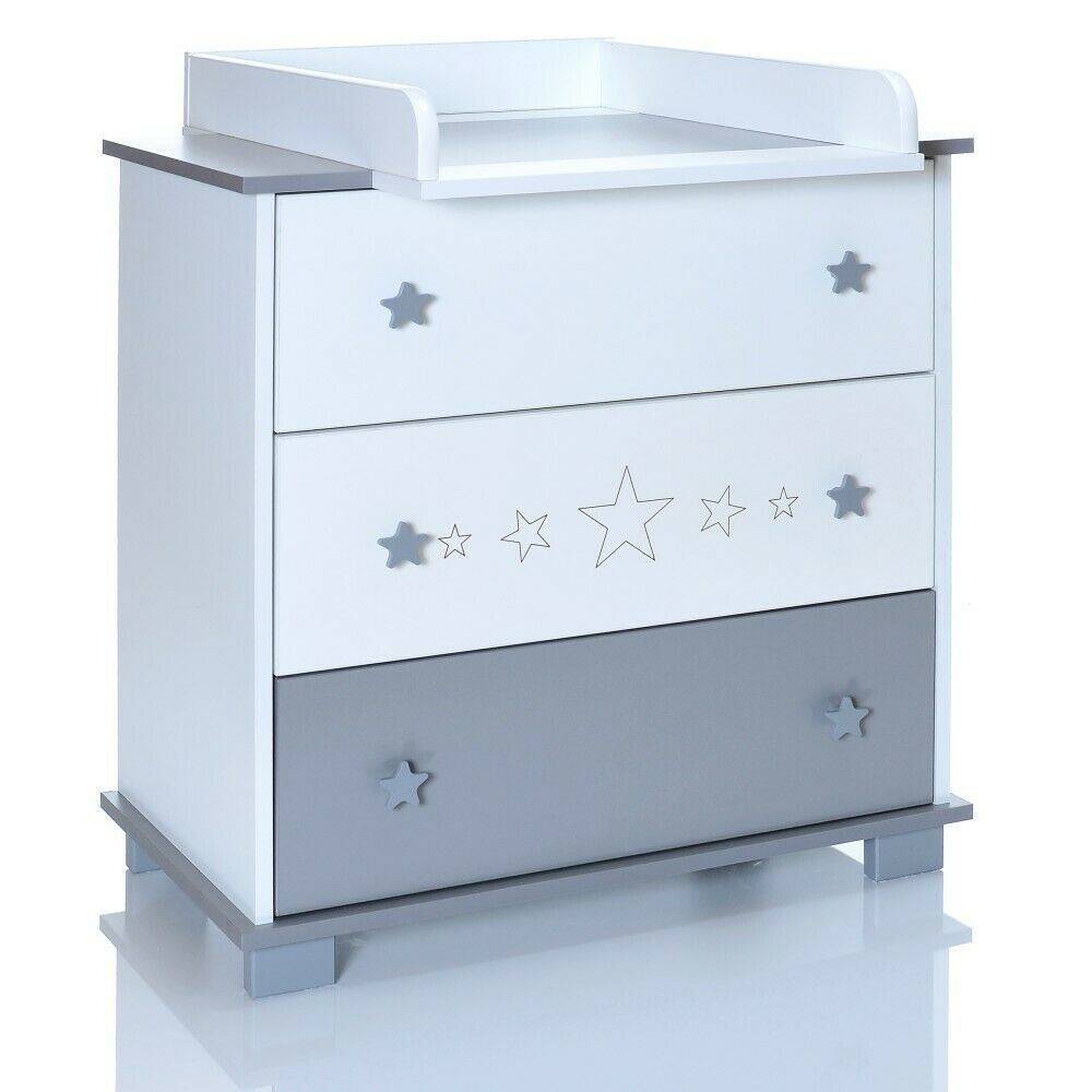 Wickelkommode Baby Baby Wooden Changing Table Greystars Chest Of Drawers