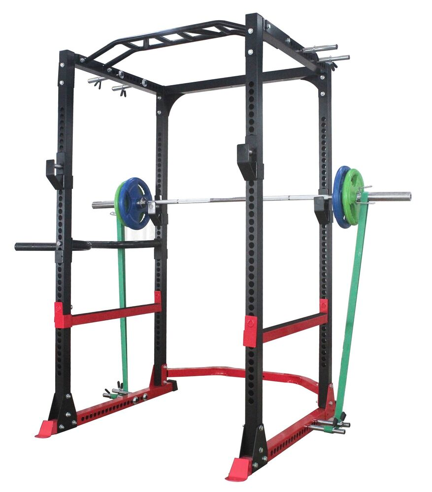 Power Rack Multi Chin Up Safety Bars Dip Handles Power