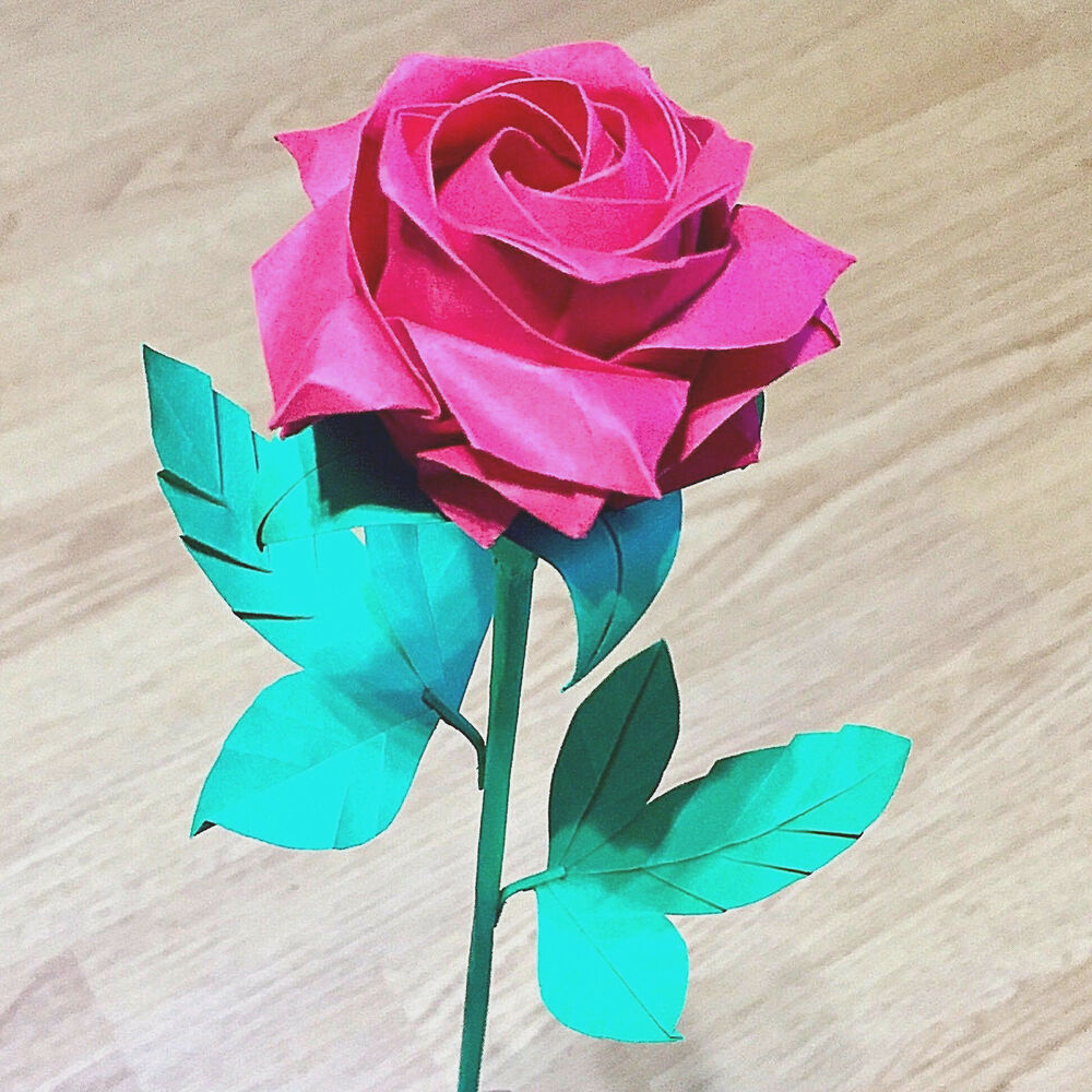 paper rose flower bouquet