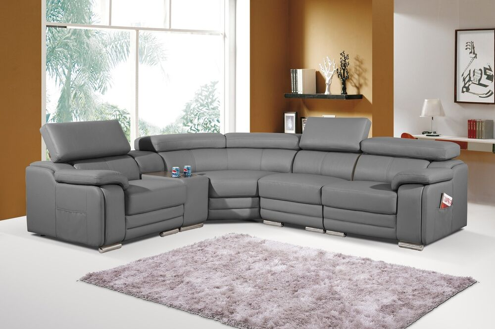 Ecksofa Grau Stoff Dakota Grey Bonded Leather Corner Sofa Left Hand | Ebay