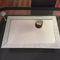 LARGE SILVER GLITTER SPARKLE WALL MIRROR GIRLS ROOM ...