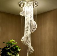 Modern Contemporary Crystal Chandelier Staircase Hallway ...
