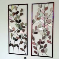 Large Metal Wall Art Framed Wall Sculpture/ Home Decor