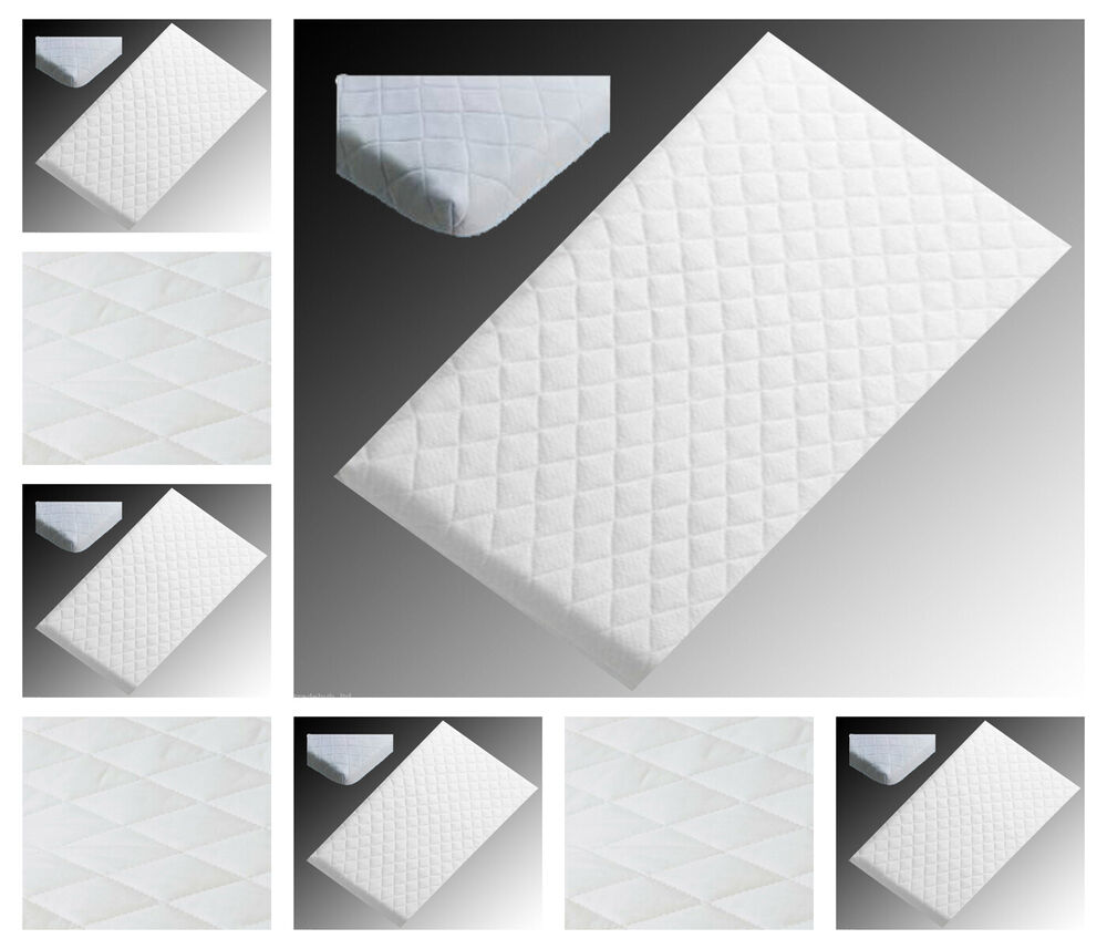 38 X 89cm Crib Mattress Nursery Baby Quilted Breathable Cradle Pram Cot Crib Mattress Size 89 X 38 Cm 713390316889 Ebay