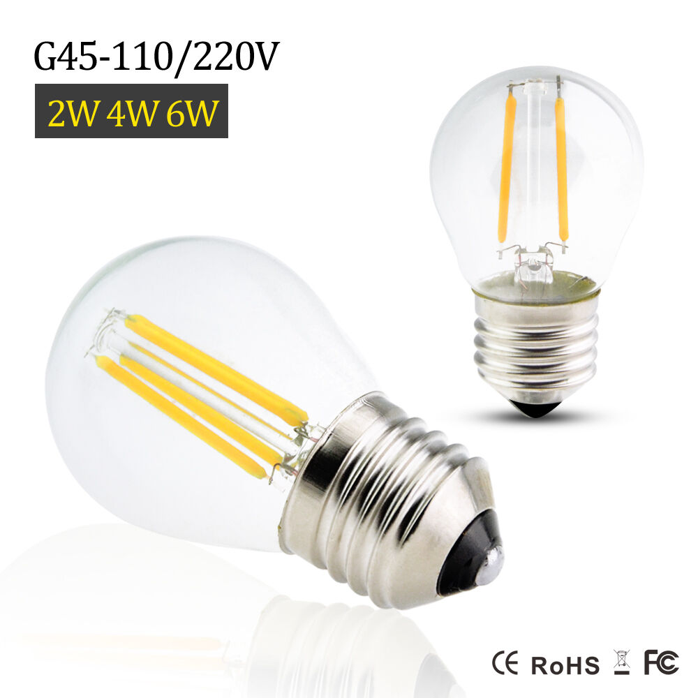 Led 220v E27 G45 2 4 6w Edison 220v 110v Retro Filament Led Bulb Candle Light Spot Lamp Ebay