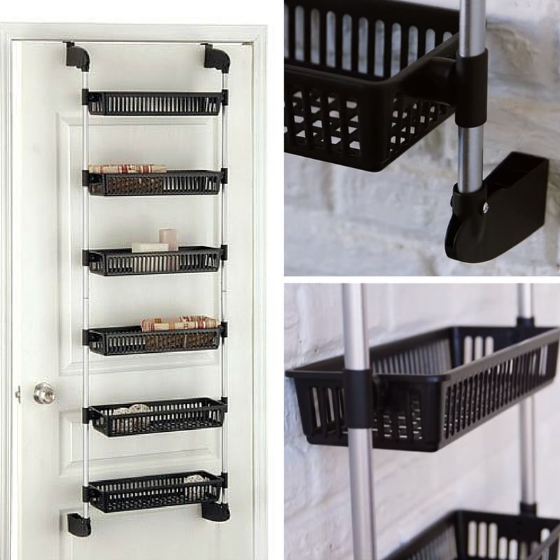 Rack Door Organizer Storage Kitchen Holder Spice Cabinet