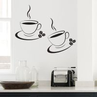 2 x Coffee Cup Kitchen/ Cafe Wall Art- Decal- Transfers ...